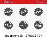 shopping icons. professional ... | Shutterstock .eps vector #278015729
