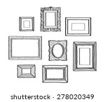 vector set of vintage photo... | Shutterstock .eps vector #278020349