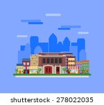 fire station. fit into the... | Shutterstock .eps vector #278022035