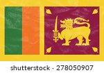 sri lanka flag on leather... | Shutterstock . vector #278050907