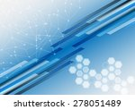 abstract shape and mesh with...   Shutterstock .eps vector #278051489