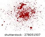 splatter red color on white...