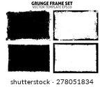 grunge frame texture set  ... | Shutterstock .eps vector #278051834