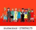 children kids dream jobs... | Shutterstock . vector #278056175