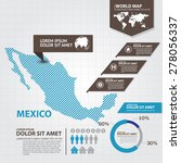 mexico map infographic | Shutterstock .eps vector #278056337