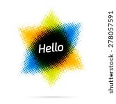 abstract banner in the shape of ...   Shutterstock .eps vector #278057591