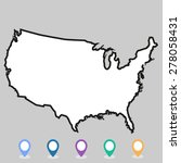 usa map vector  us map vector ... | Shutterstock .eps vector #278058431