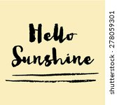 hello sunshine background.... | Shutterstock . vector #278059301