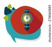 watch flat icon with long... | Shutterstock .eps vector #278060885