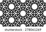 seamless mashrabiya style... | Shutterstock .eps vector #278061269