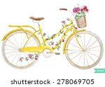 watercolor illustration of a... | Shutterstock .eps vector #278069705
