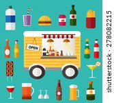 moving little bar with foods... | Shutterstock .eps vector #278082215