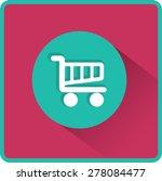 flat vector cart icon | Shutterstock .eps vector #278084477