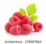 fresh organic raspberries... | Shutterstock . vector #278087864