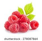 fresh organic raspberries... | Shutterstock . vector #278087864