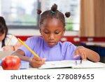 afro american girl in... | Shutterstock . vector #278089655