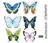 butterfly  watercolor... | Shutterstock .eps vector #278090495