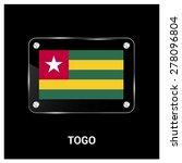 vector togo flag glass plate...   Shutterstock .eps vector #278096804