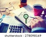 businessman writing planning... | Shutterstock . vector #278098169