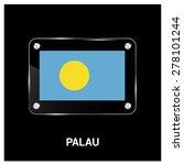 vector palau flag glass plate...   Shutterstock .eps vector #278101244