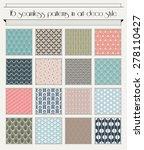 vector set of seamless patterns ...   Shutterstock .eps vector #278110427