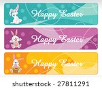 easter day banner with cute... | Shutterstock .eps vector #27811291