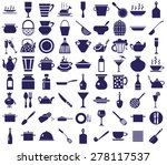 blue icons on a white... | Shutterstock .eps vector #278117537