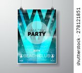 vector party flyer poster