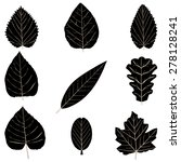 leaf black icon set | Shutterstock .eps vector #278128241