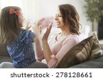 mommy  let's play together ... | Shutterstock . vector #278128661