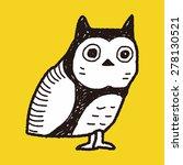 owl doodle   Shutterstock . vector #278130521