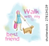 vector watercolor illustration... | Shutterstock .eps vector #278134139