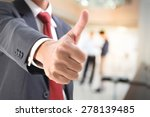 businessman show thumb up in... | Shutterstock . vector #278139485