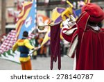 In Medieval Costume Parade...