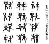 dancing couples set. vector... | Shutterstock .eps vector #278144495
