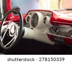1950's american classic car at... | Shutterstock . vector #278150339
