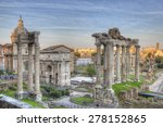 roman forum sunset hdr | Shutterstock . vector #278152865