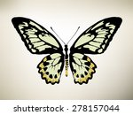 butterfly. vector illustration | Shutterstock .eps vector #278157044