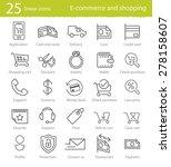 e commerce  shopping and web... | Shutterstock .eps vector #278158607