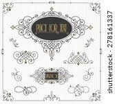 decorative swirls vector set....   Shutterstock .eps vector #278161337
