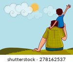 illustration of a little boy... | Shutterstock .eps vector #278162537