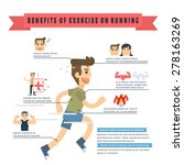 benefits of exercise on running ... | Shutterstock .eps vector #278163269