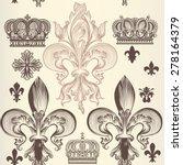 heraldic wallpaper pattern with ... | Shutterstock .eps vector #278164379
