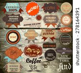 collection of vector vintage... | Shutterstock .eps vector #278164391