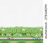 city park. recreation  leisure  ... | Shutterstock .eps vector #278168294