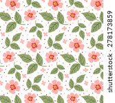 Pattern With Pastel Flowers An...