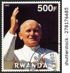 Rwanda   Circa 2003  A Stamp...