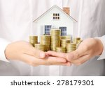 mortgage concept by money house ... | Shutterstock . vector #278179301