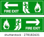 emergency fire exit door signs | Shutterstock .eps vector #278182631