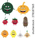 vegetable characters with legs... | Shutterstock .eps vector #278187365